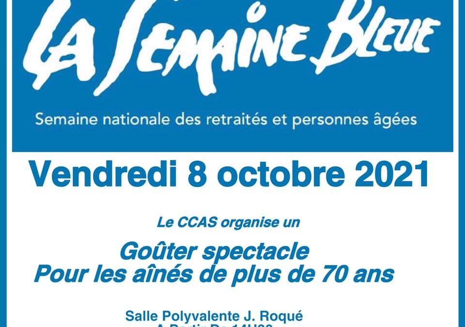 La semaine bleue, le CCAS organise un goûter-spectacle