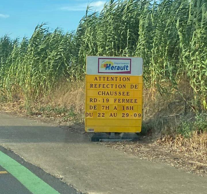[Attention travaux sur route departementale 19 : fermeture prévue]